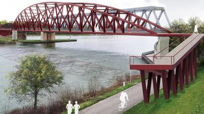 Fotomontage einer Brücke