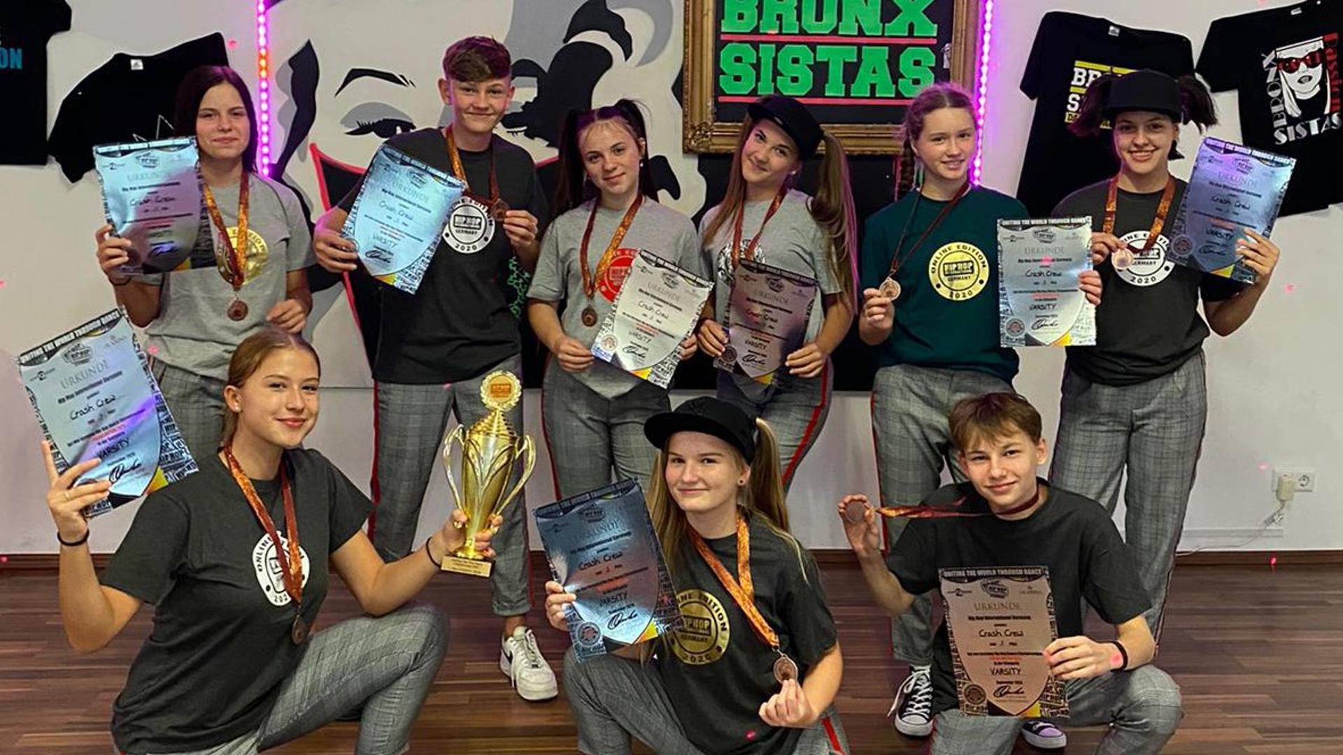 Erfolgsformation: Die Hip-Hop-Tanzgruppe Crash  Crew hat sich für die Weltmeisterschaft in den USA qualifiziert.