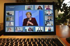 Im Gespräch, Liveschalte, Merkel