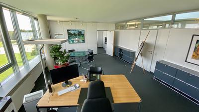 Blick auf das Landratsbüro.
