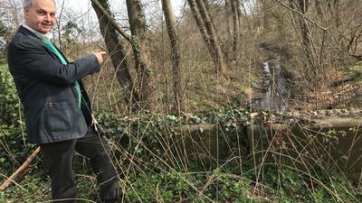 Verbesserungsbedarf:   Eine naturnahe Gestaltung des Federbaches  sieht Naturschützer Wolfgang Huber  als wesentlches ökologisches  Element  im Zusammenhang mit dem geplanten neuen Autobahnanschluss.