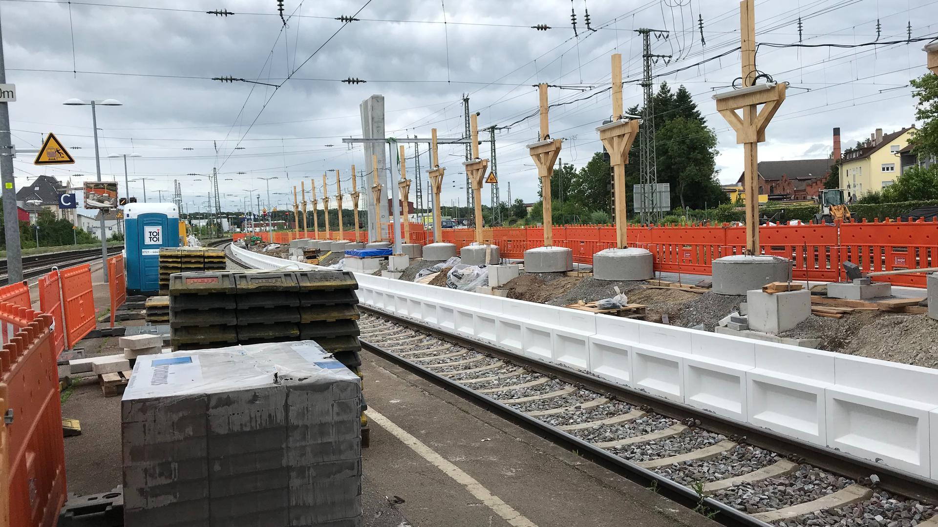 Bahngleis, Bauteile