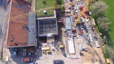 Das Wasserwerk Rauental musste aufwendig umgebaut werden (im Bild der Stand der Bauarbeiten 2017). Mit Aktivkohlefiltern werden dort nun PFC aus dem Trinkwasser geholt.