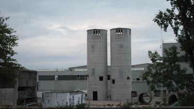 Ein verlassenes Industriegelände.