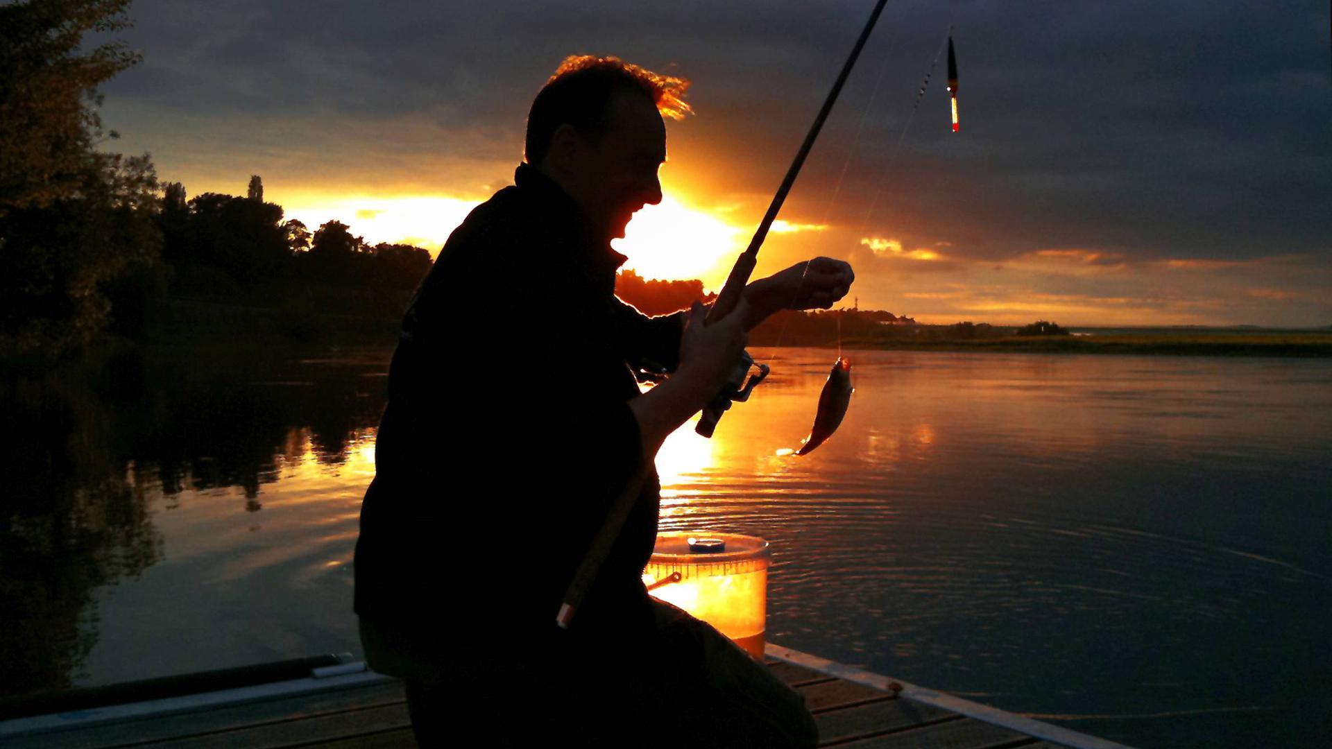 Fischerdämmerung: Das Gift im Grundwasser bedroht die Anglervereine der Region. Im Sandweierer Kühlsee sind die PFC-Grenzwerte in den Fischen bereits weit überschritten.