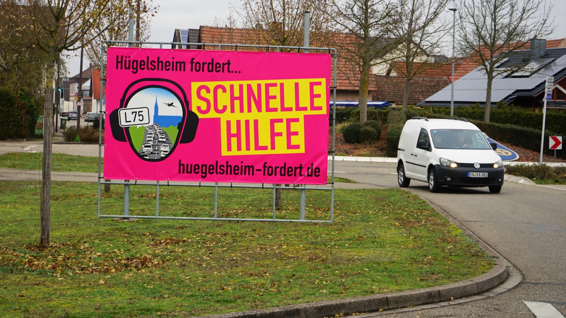 Schnelle Hilfe: Das fordert die Gemeinde Hügelsheim, um endlich weniger Verkehr im Ort zu haben. Der Vorstoß des Landes geht der Kommune jetzt aber zu schnell.