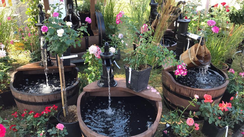 """Wo die Brünnlein rauschen: Auch das Thema """"Gartengestaltung"""" spielte auf der DIGA eine große Rolle."""