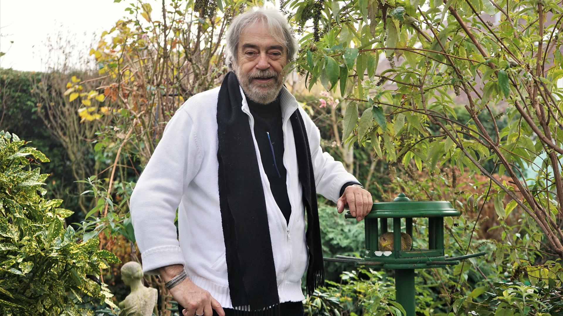 Paul Sachse im Garten seines Elternhauses in Kuppenheim
