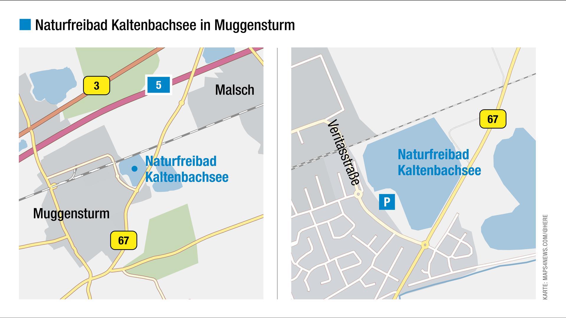 Grafik zum Natufreibad Kaltenbachsee.
