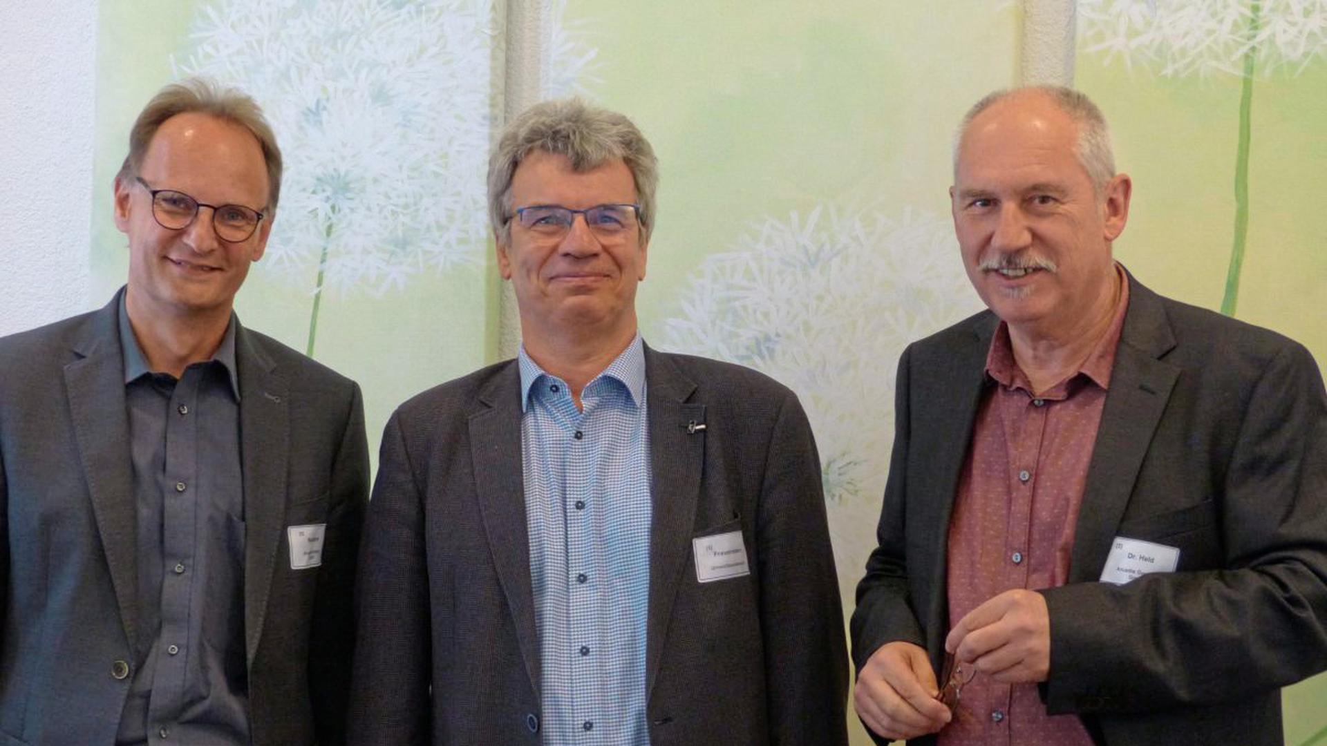 Michael Reinhard, Jörg Frauenstein und Thomas Held (v.li) waren federführend bei der Erstellung der PFC-Arbeitshilfe.