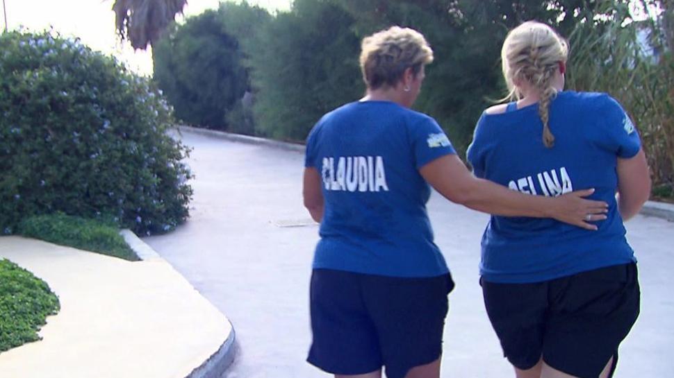 Trauer nach dem Ausscheiden bei Claudia Eißmann und Celina Satalino (von links).