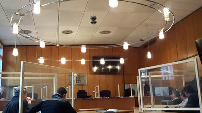 Hygiene wird in den Gerichtssälen groß geschrieben. Foto: Hubert Röderer