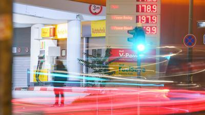 Tankstelle mit Rekordpreisen