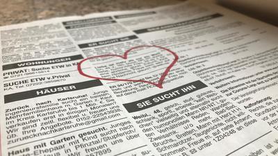 Anzeigen in der Zeitung