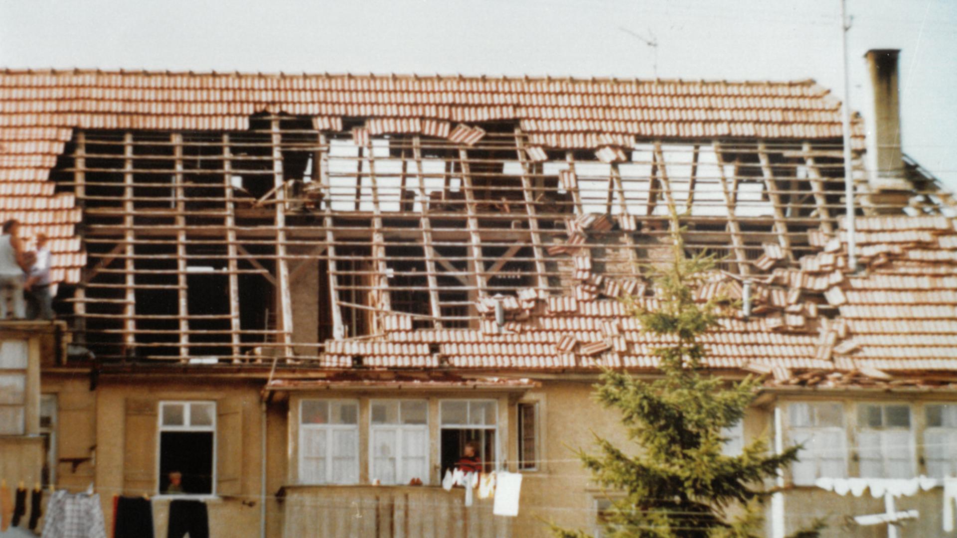 Abgedecketes Hausdach