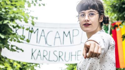 Paula Kanzleiter aus Karlsruhe opfert sehr viel von ihrer Freizeit für Fridays for Future und das Klimacamp.