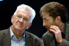 Gegenseitige Wertschätzung: Ministerpräsident Winfried Kretschmann rüffelte den Tübinger Oberbürgermeister Boris Palmer öffentlich bereits, schätzt ihn aber als Politiker. Der Name Palmer fällt immer wieder bei den möglichen Ministerkandidaten der Grünen.