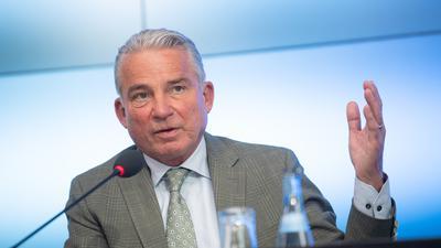 Thomas Strobl (CDU), Minister für Inneres, Digitalisierung und Migration von Baden-Württemberg, spricht während der Landespressekonferenz Baden-Württemberg.