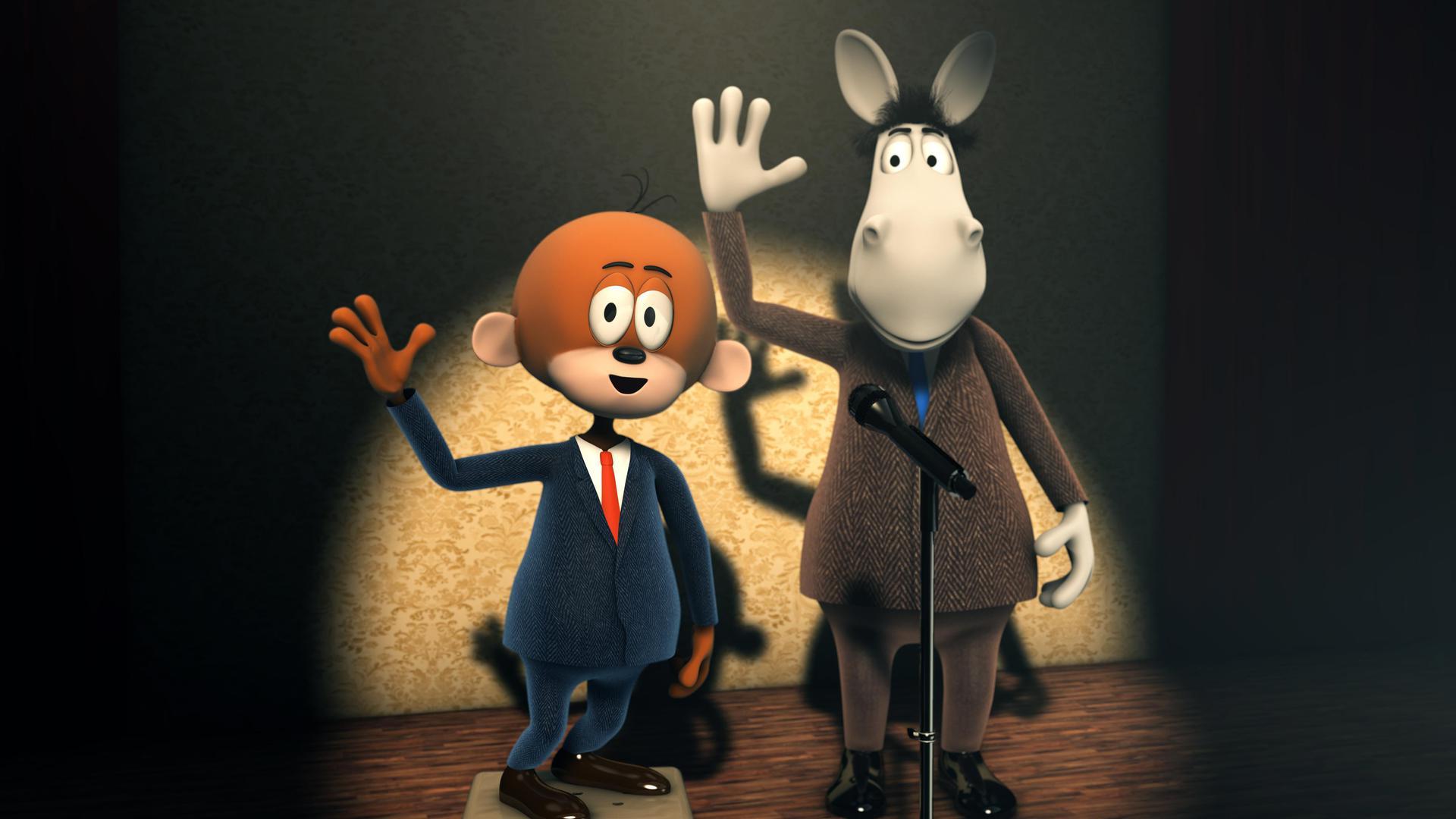 Die lustigen Comic-Pausenfüller Äffle und Pferdle gibt es seit 2010 auch in 3D-Animation und mit neuen Stimmen.