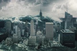 New York wird von einer Flutwelle zerstört.