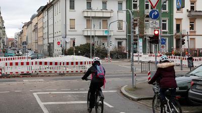 30.12.2020 Übergang für Radfahrer und Fußgänger Hirschstraße / Kriegsstraße