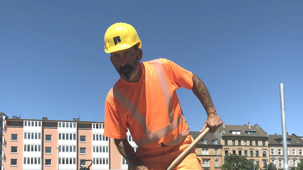 Bauarbeiter Hubert Froelich aus dem Elsass.