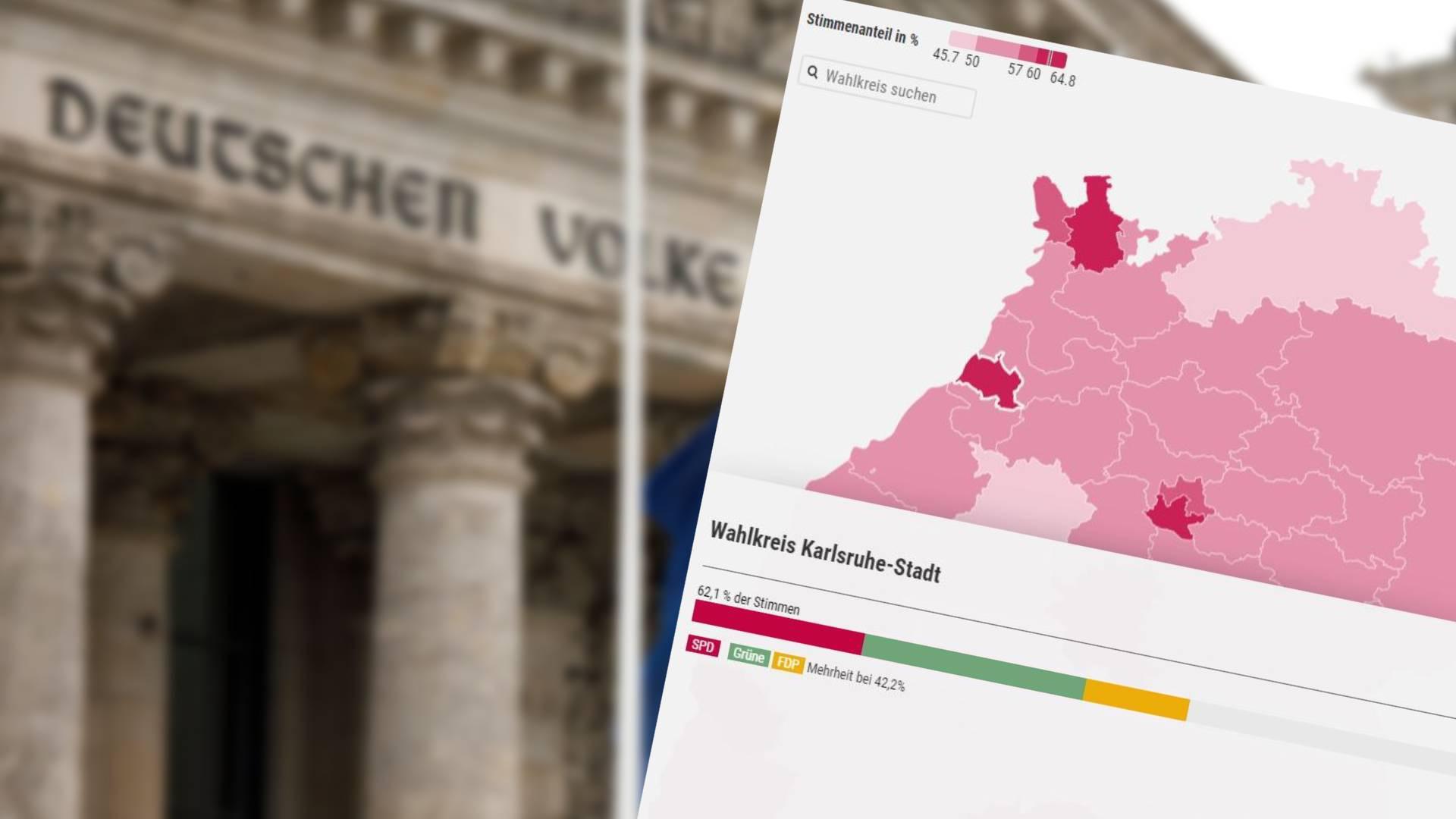 Analyse zur Bundestagswahl: Diese Koalitionen hätten in Ihrem Wahlkreis die größte Unterstützung.