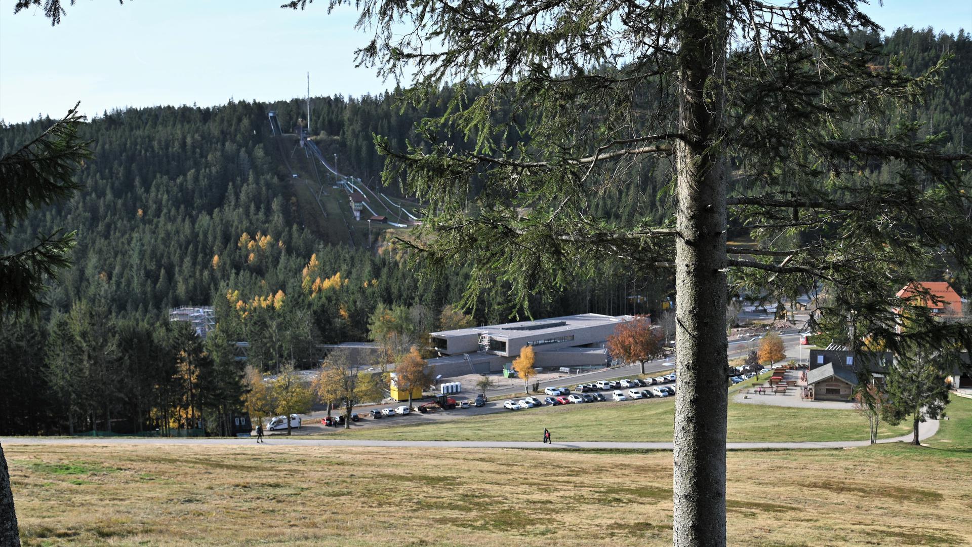 Blick auf das neue Nationalparkzentrum