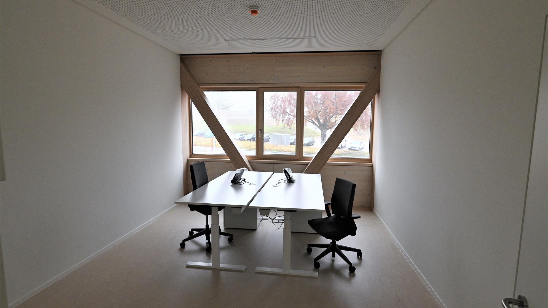 Büro im Obergeschoss des Nationalparkzentrums