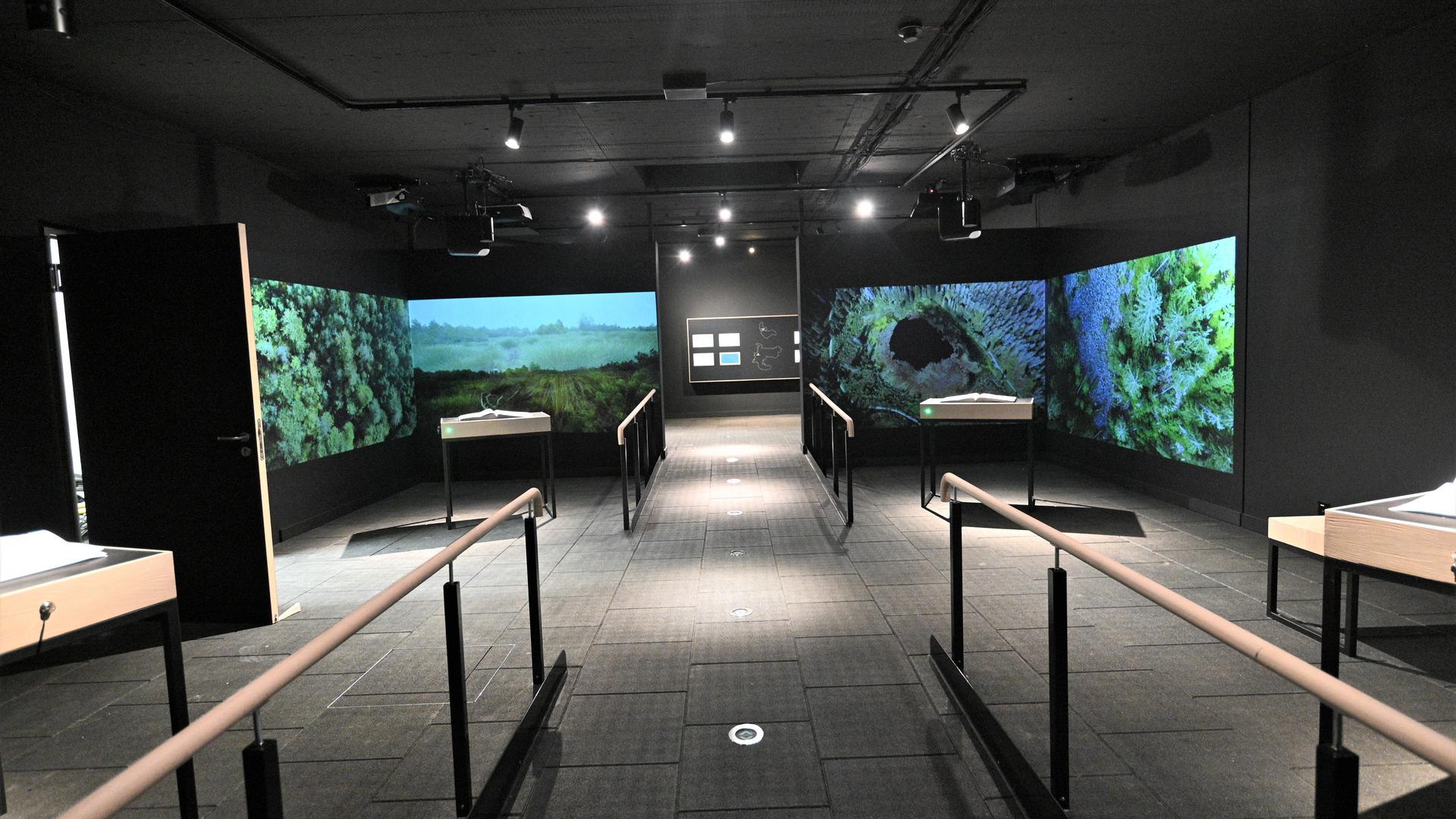 Blick in die Dauerausstellung: Videotechnik hat eine große Bedeutung