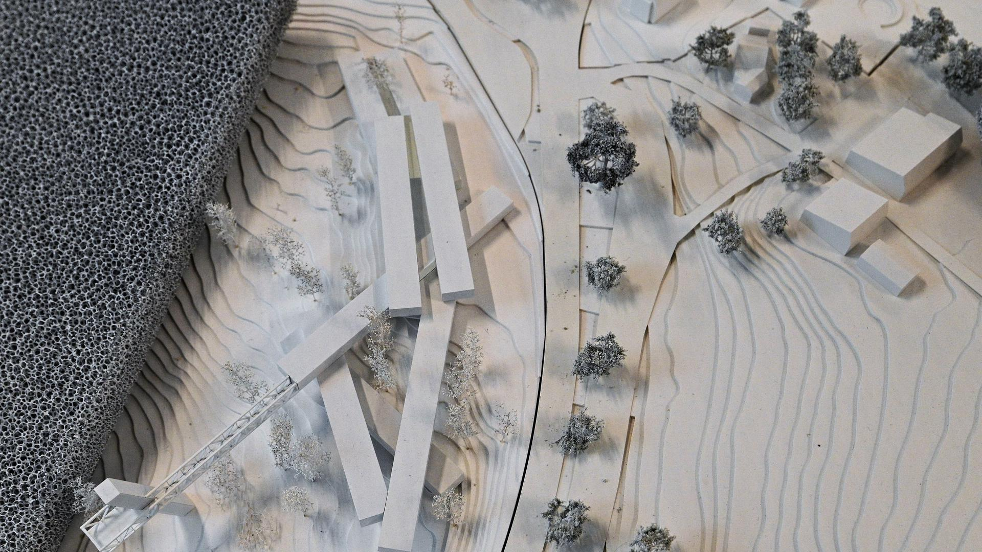 Modell des Siegerentwurfs für das Nationalparkzentrum am Ruhestein der Architekten Sturm und Wartzek.