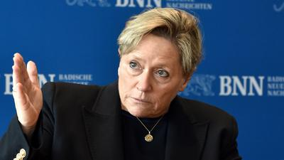 Susanne Eisenmann zu Besuch in der BNN-Redaktion.