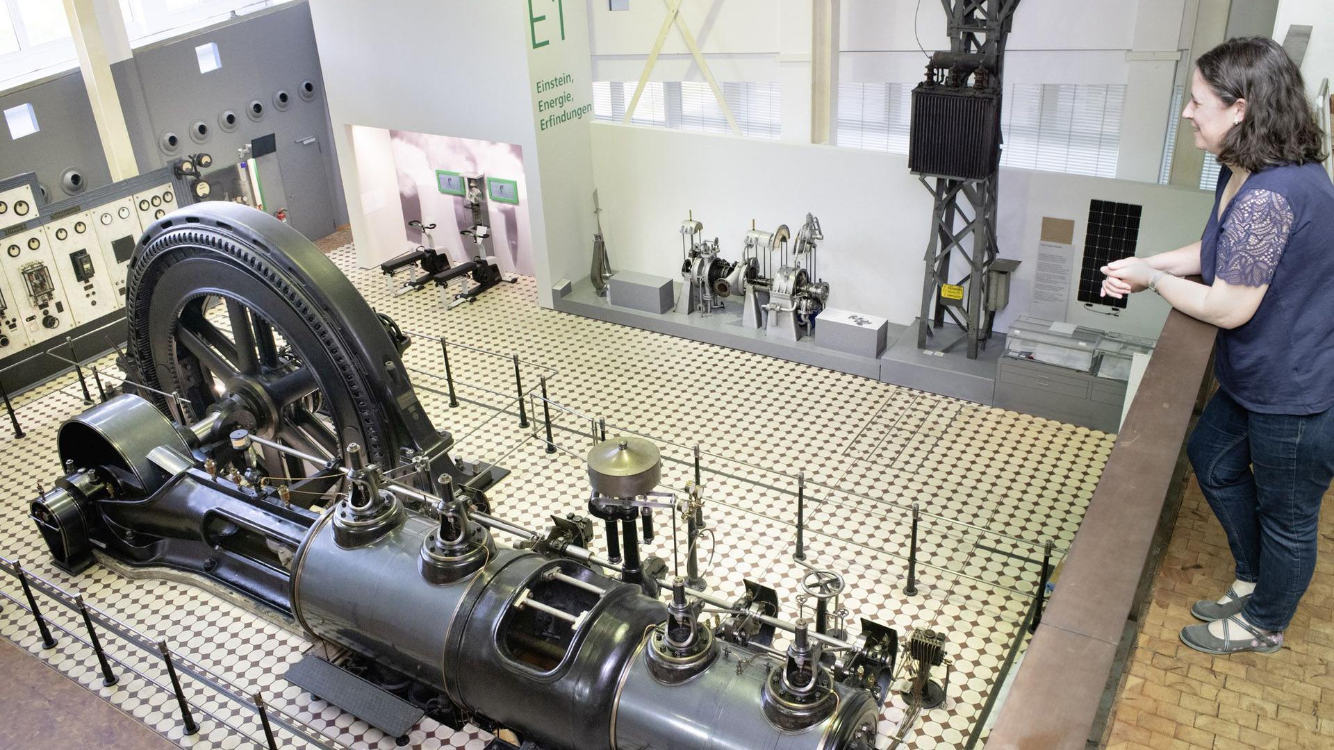Fast, als wäre man dort: Bei der 360-Grad-Tour durch das Technoseum in Mannheim kann der Online-Besucher auch diese Dampfmaschine von 1908 besichtigen.