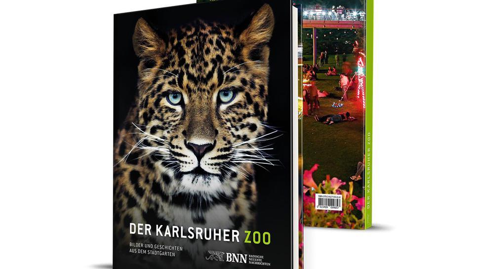 """Buch """"Der Karlsruher Zoo"""" mit Leopard auf dem Titelbild"""