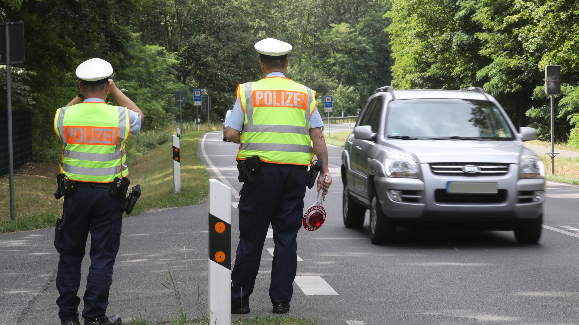 Verkehrskontrolle der Bundespolizei