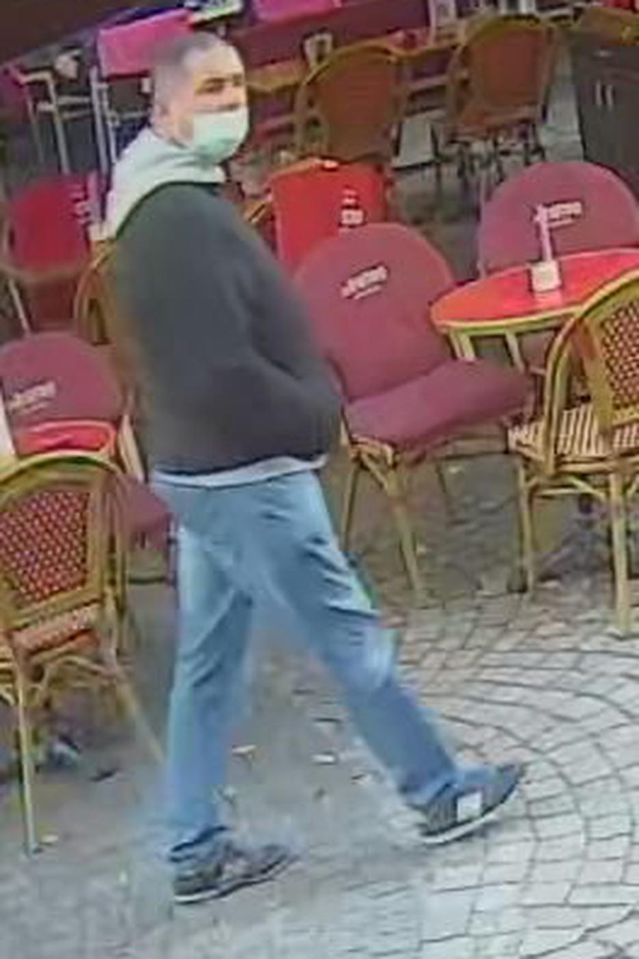 Foto einer gesuchten Person im Zusammenhang mit dem mysteriösen Todesfall in Baden-Baden