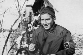 Christl Cranz nach ihrem Sieg bei den Olympischen Winterspielen 1936.