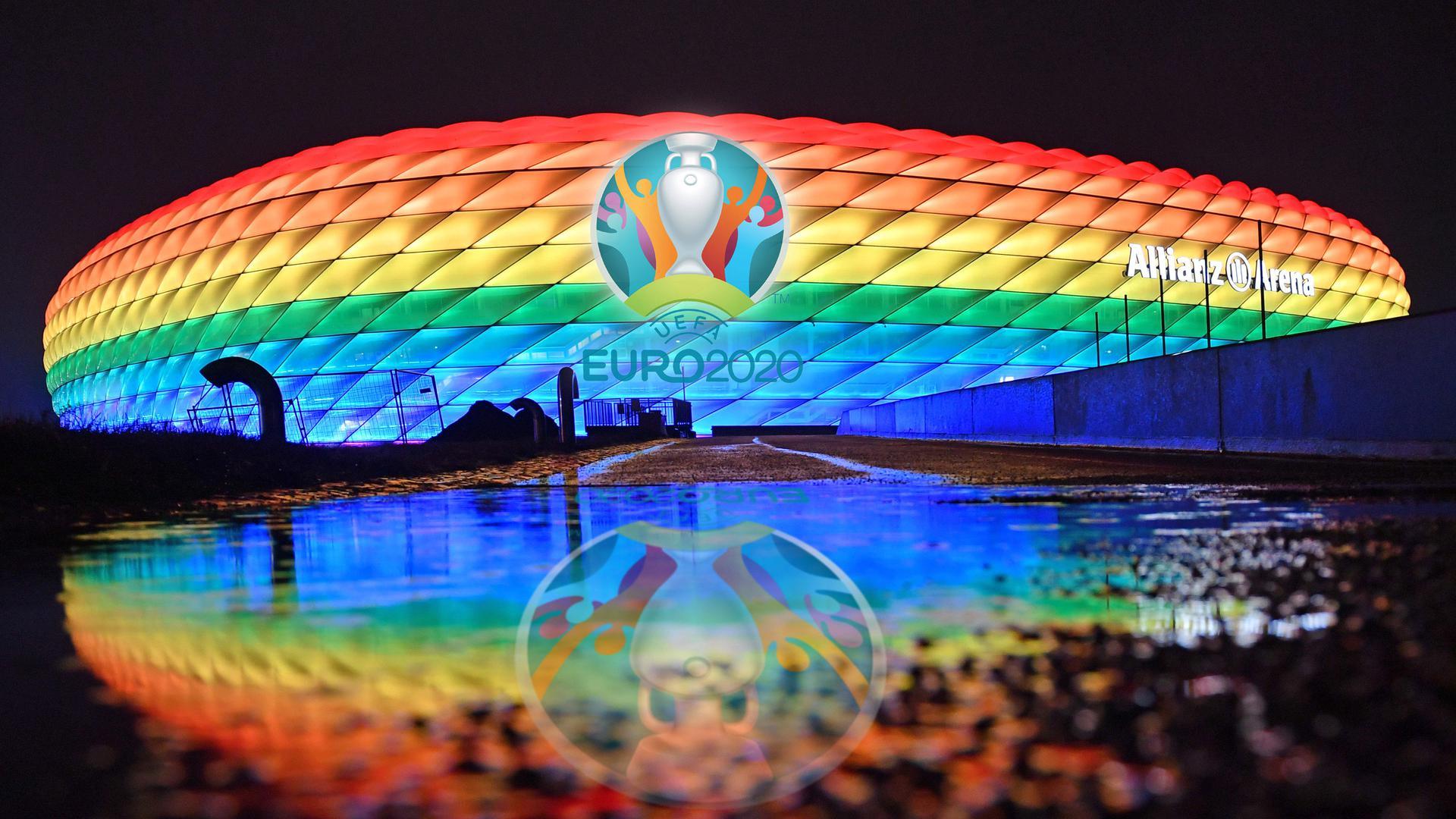 München macht sich Locker: Pünktlich vor Beginn der Fußball-Europameisterschaft lockert die Stadt, die einer der Austragungsorte des paneuropäischen Sportereignisses ist, ihre Corona-Regeln. Deshalb sind auch 14.000 Zuschauer in der Arena zugelassen.