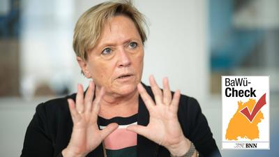 Viereinhalb Monate vor der Landtagswahl erreicht Kultusministerin und CDU-Spitzenpolitkerin Susanne Eisenmann nur niedrige Sympathiewerte.