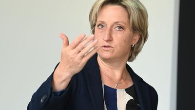 Nicole Hoffmeister-Kraut (CDU) bei einem Termin.