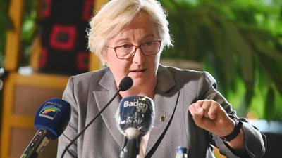 Theresia Bauer (Bündnis 90/Die Grünen), Ministerin für Wissenschaft, Forschung und Kunst von Baden-Württemberg.