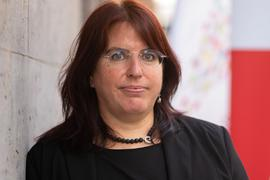Monika Stein, Landesvorsitzende der Gewerkschaft Erziehung und Wissenschaft (GEW).