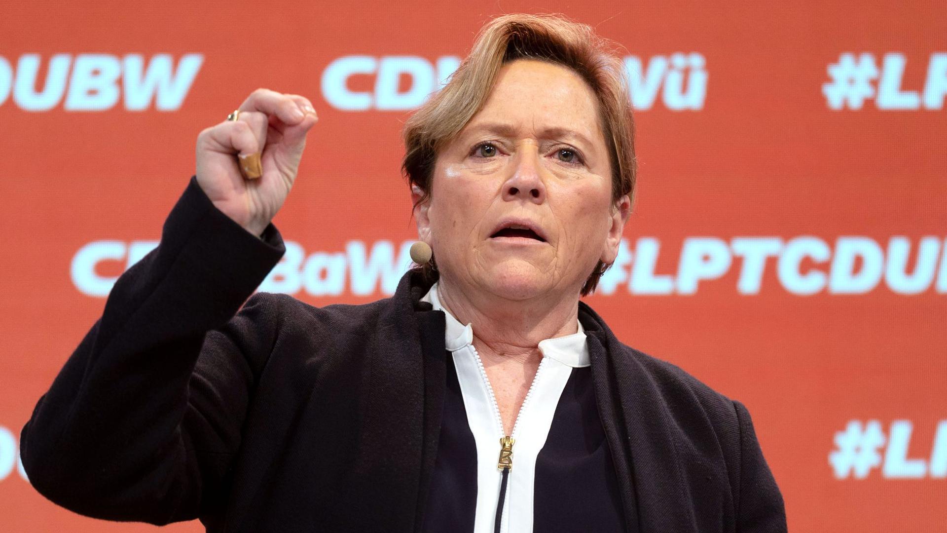 Susanne Eisenmann, Kultusministerin von Baden-Württemberg.