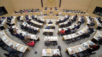 Der Landtag von Baden-Württemberg in Stuttgart.
