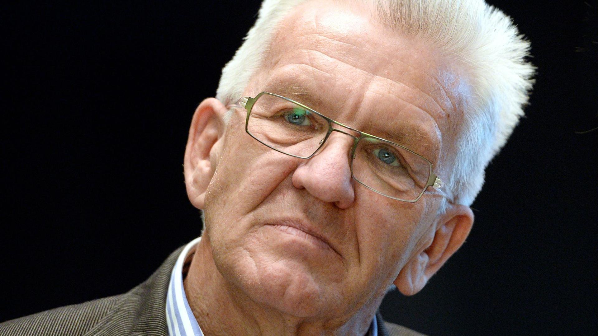 Winfried Kretschmann (Bündnis 90/Die Grünen) bei einer Veranstaltung.