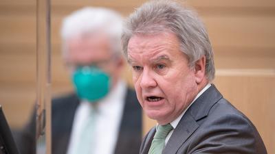 Franz Untersteller (Bündnis 90/Die Grünen), Minister für Umwelt, Klima und Energiewirtschaft von Baden-Württemberg.