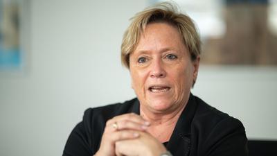 Susanne Eisenmann (CDU), Ministerin für Kultus, spricht.