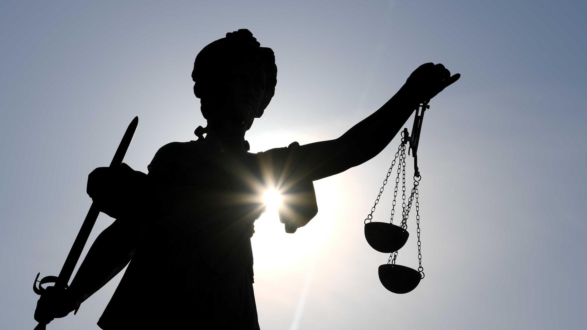 Die Statue der Justitia.