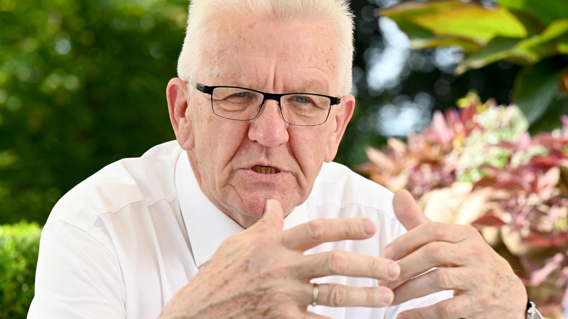 Baden-Württembergs Ministerpräsident Winfried Kretschmann in Stuttgart.