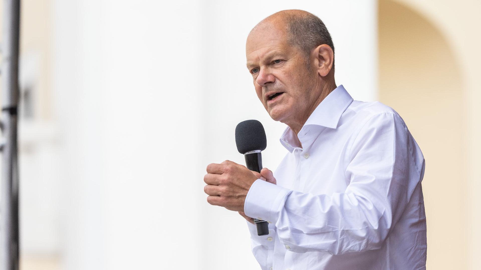 Olaf Scholz (SPD) bei einer Wahlkampfveranstaltung.